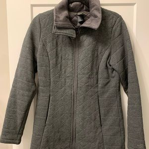 The North face quilted fleece plush lined zip up
